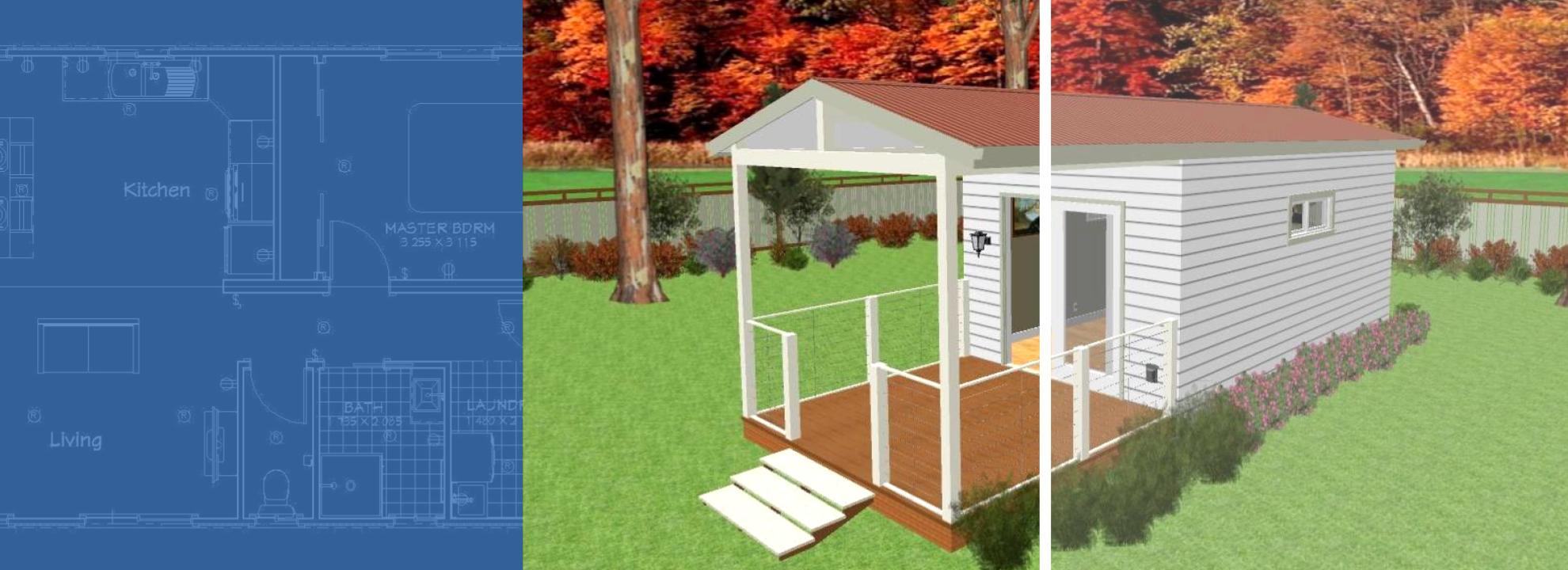6x3 portable building granny flat tiny house