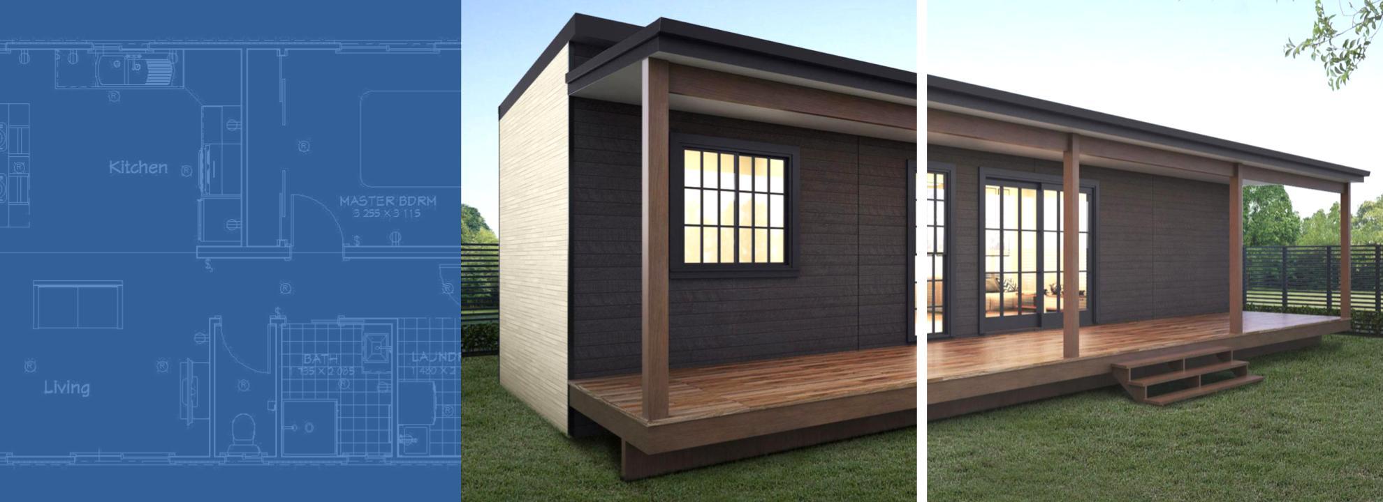9x3 portable building granny flat tiny house
