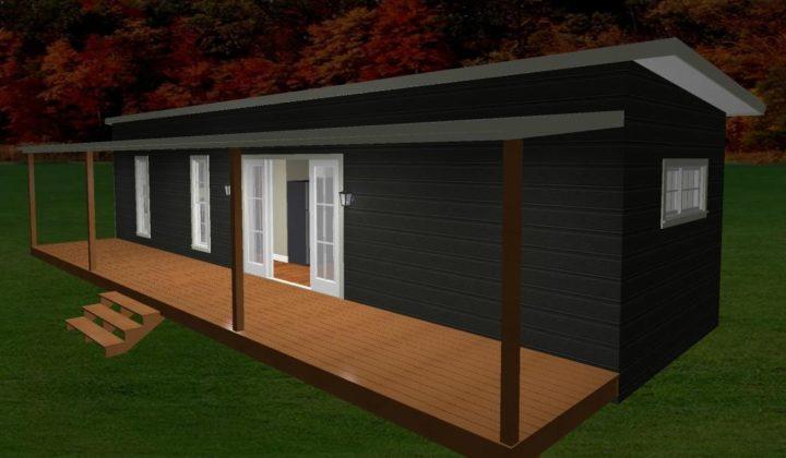 13.5mx3.6 Jindabyne Two bedroom 3D Elevation