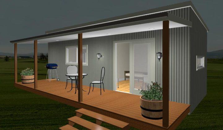 9.0m x 3.3m Classic One Bedroom w Ensuite 3D Elevation